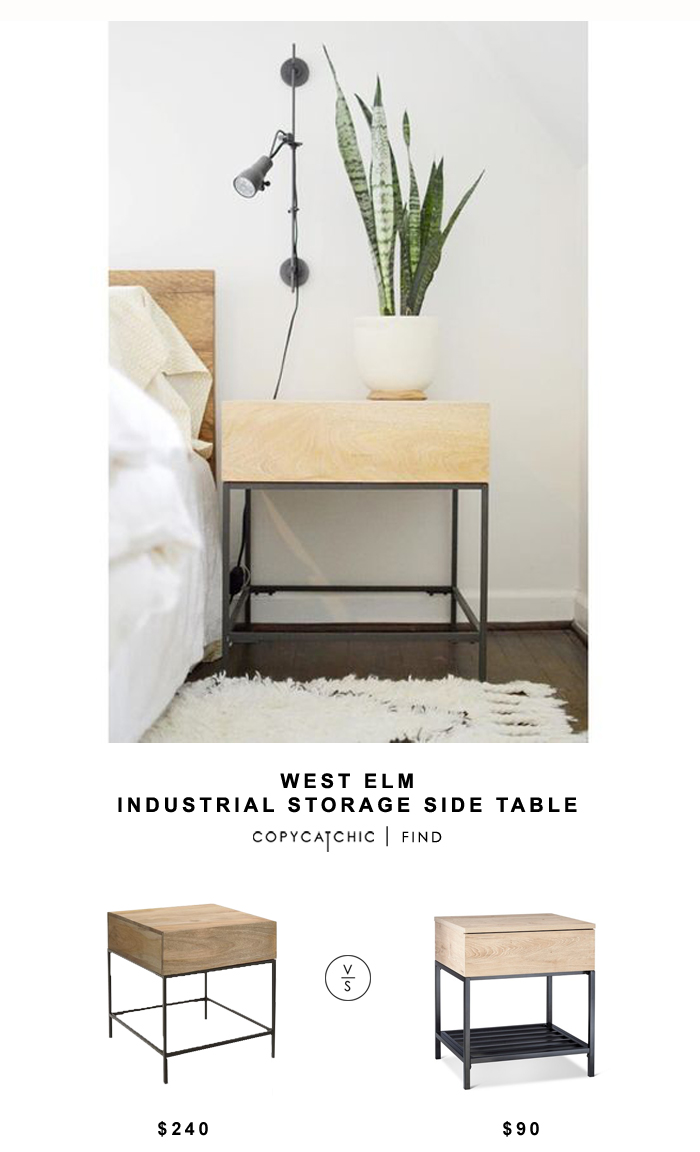 west elm industrial storage side table copycatchic look for less darley accent target end copy tall lamp small cabinet chest solid wood coffee with drawers bronze bedside ideas