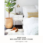 west elm mid century nightstand copycatchic updated sidetable alton accent night table for living spaces white vintage marble top luxury lamps coffee desk with drawers italian 150x150