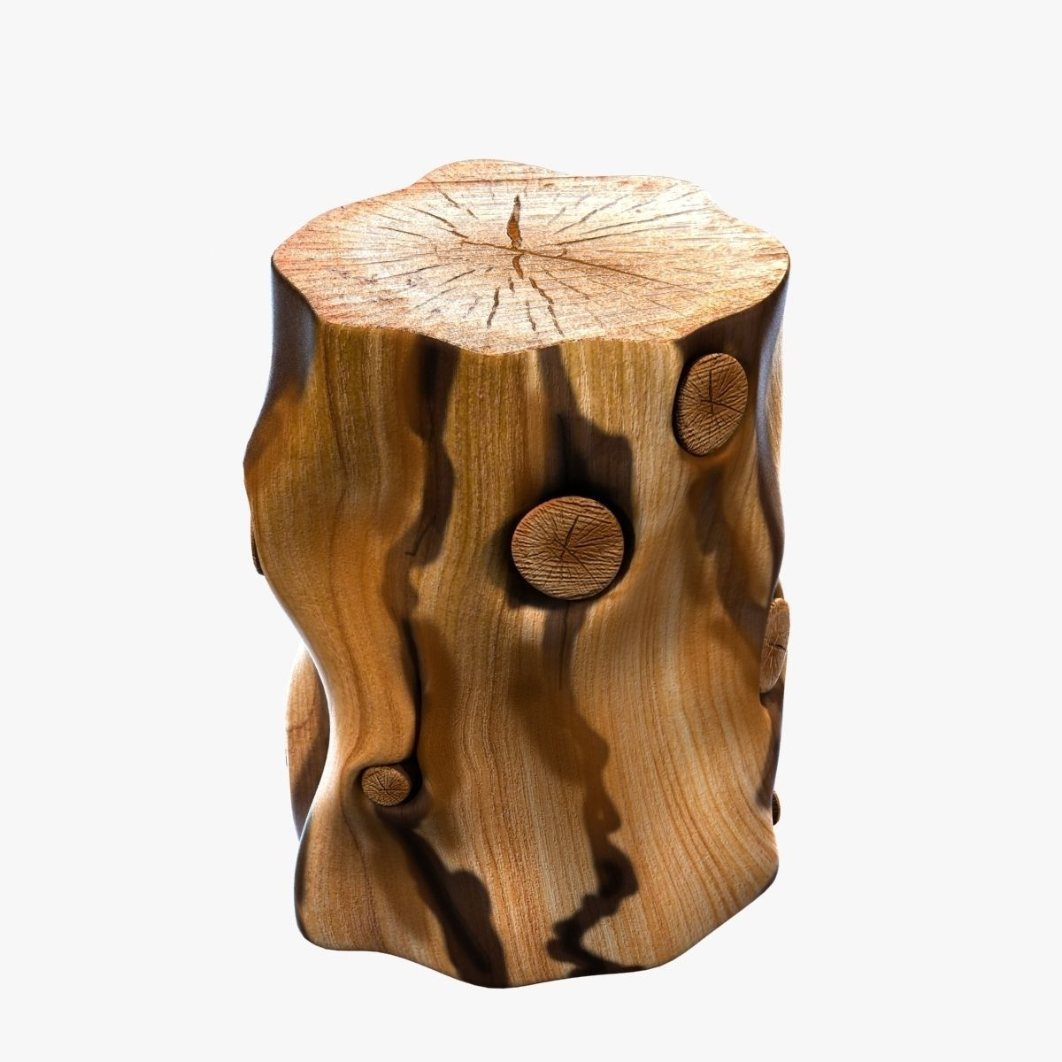 west elm natural tree stump side table model cgtrader max obj fbx accent mtl unitypackage prefab ikea white storage unit narrow marble coffee antique oval and chairs oversized