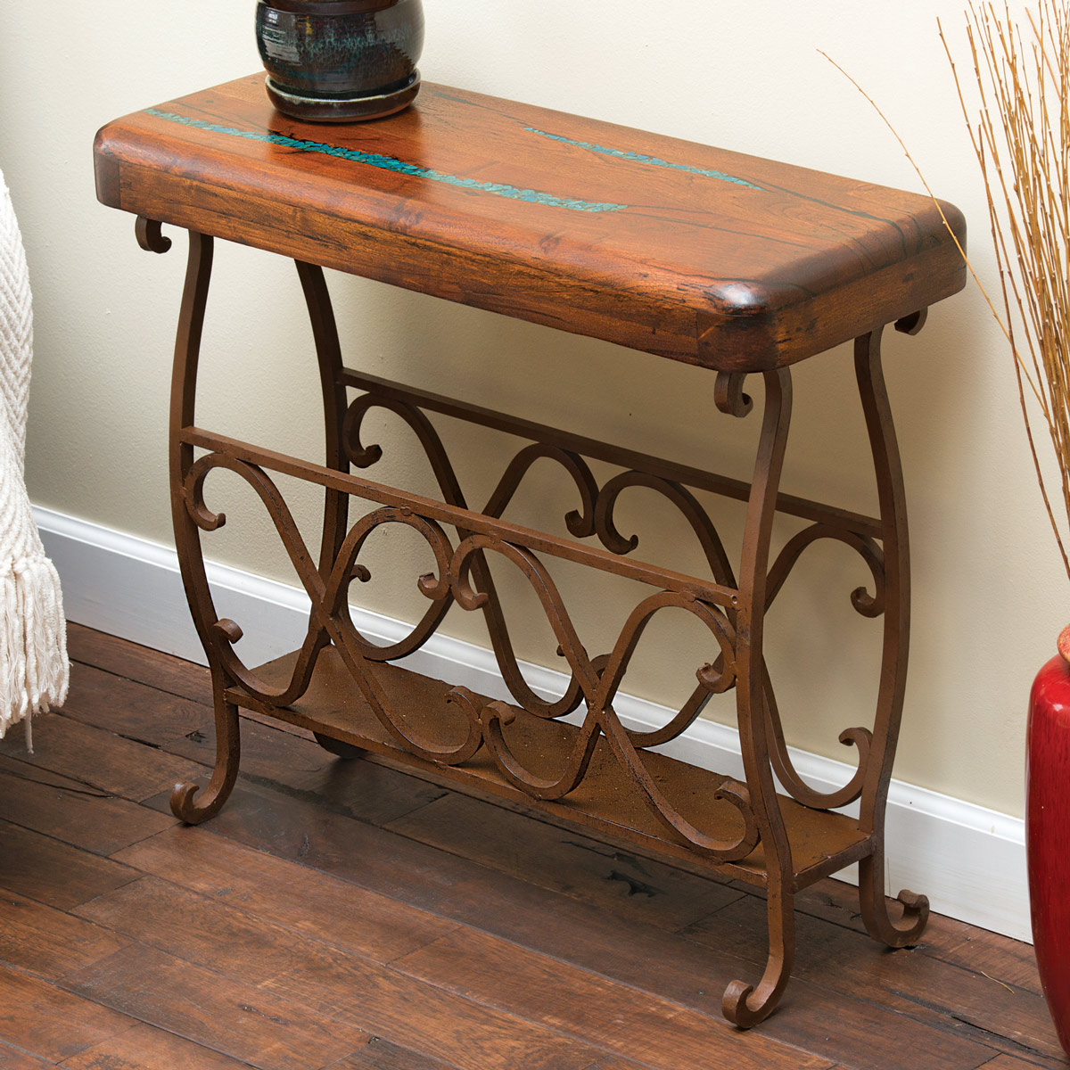 western furniture large mesquite scrollwork accent tablelone star inside rustic table metal pier one imports bedroom cool bar cooler house decoration things triangle side white