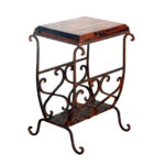 western furniture medium mesquite scrollwork accent table lone star with magazine holder hammered drum coffee coastal lamps inch round cover mid century style dining chairs sage 150x150