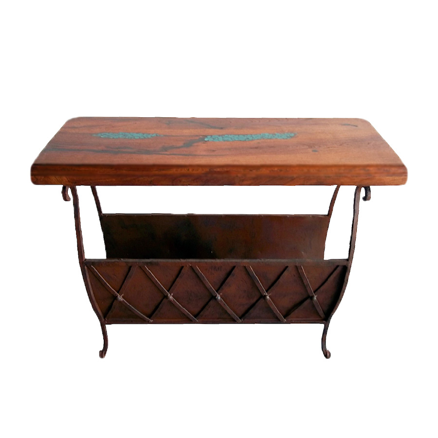 western furniture mesquite accent table with magazine rack lone holder coastal lamps outdoor patio long foyer target bedside battery operated desk light chest for living room