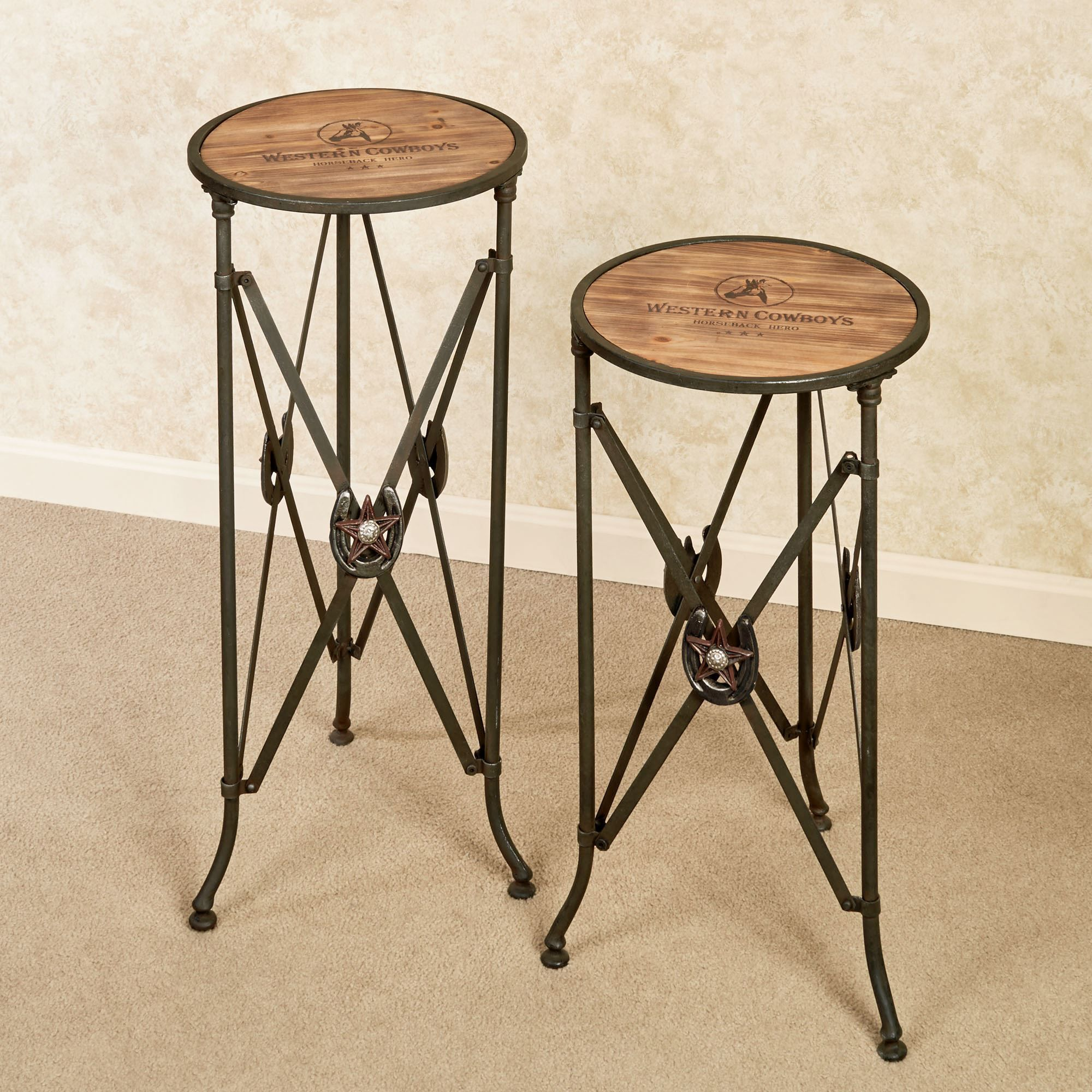western star round accent table set westerns pinebrook hairpin dining vintage couch styles retro cabinet small patio side triangle nesting tables ashley leather sofa tripod floor
