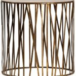 westin round side table vintage brass finish mortise tenon drum marble top accent cherry chairside glass nesting tables target black and gold outdoor wicker furniture grey wash 150x150