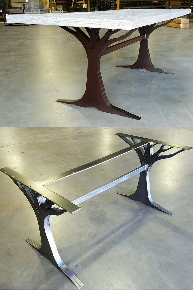 what interesting custom table leg base made from metal love the accent legs tree chair selection for should careful not block design pottery barn headboard mahogany coffee globe