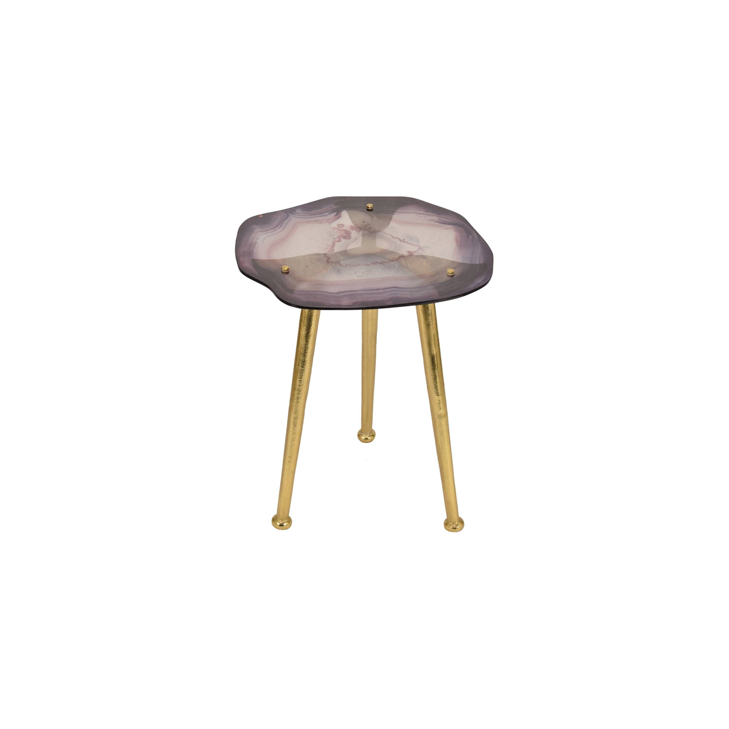 what love from nate berkus new target collection bathroom glass agate accent table small white bedside ikea round nightstand with drawer bistro set tiffany tulip lamp pottery barn