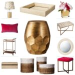 what your threshold new spring collection for target out scalloped accent table honeycomb gold foiled lamp with butterfly shade faux shell inlay tray ranuculus peony vase tufted 150x150