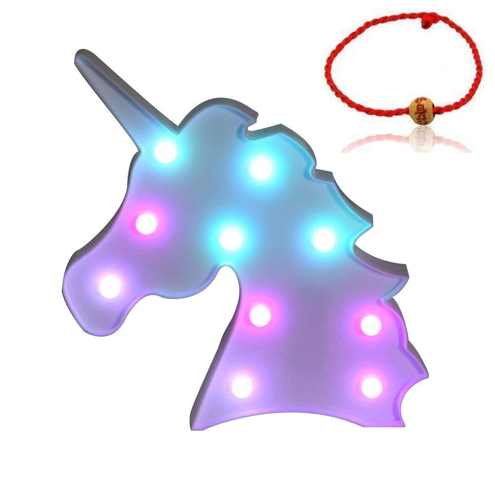 whatook colorful unicorn light changeable night lights accent table battery operated decorative marquee signs rainbow led lamp wall decoration for living room bedroom bistro patio