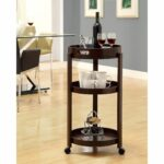 when you not using this rolling bar cart for serving drinks tier accent table target guests functions versatile side its cappuccino finish and three tiered rectangular patio 150x150