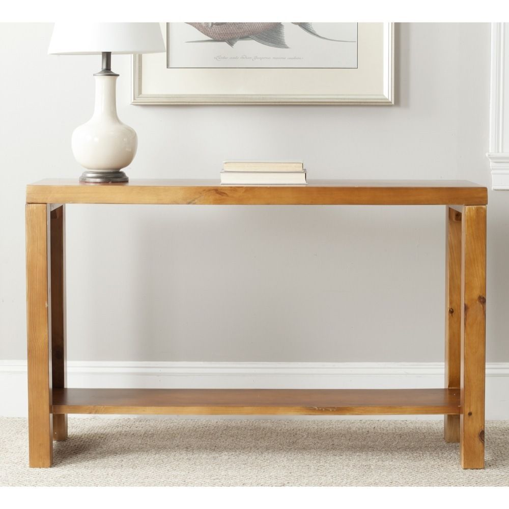 whether the setting country rustic modern urban lahoma light oak accent tables stylish look and innovation your indoor decor using this safavieh console table pottery barn
