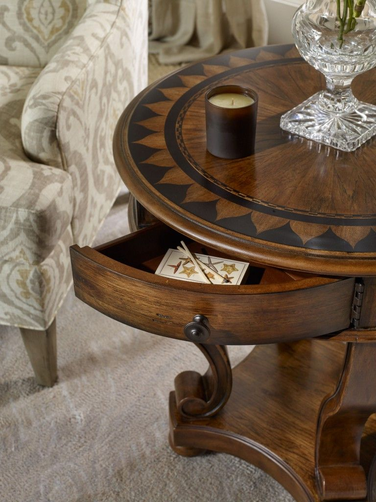 while the contrasting wood inlay pattern archivist round accent end tables entryway mirror sofa center table narrow white coffee secretary desk pewter marble top tiffany lighting