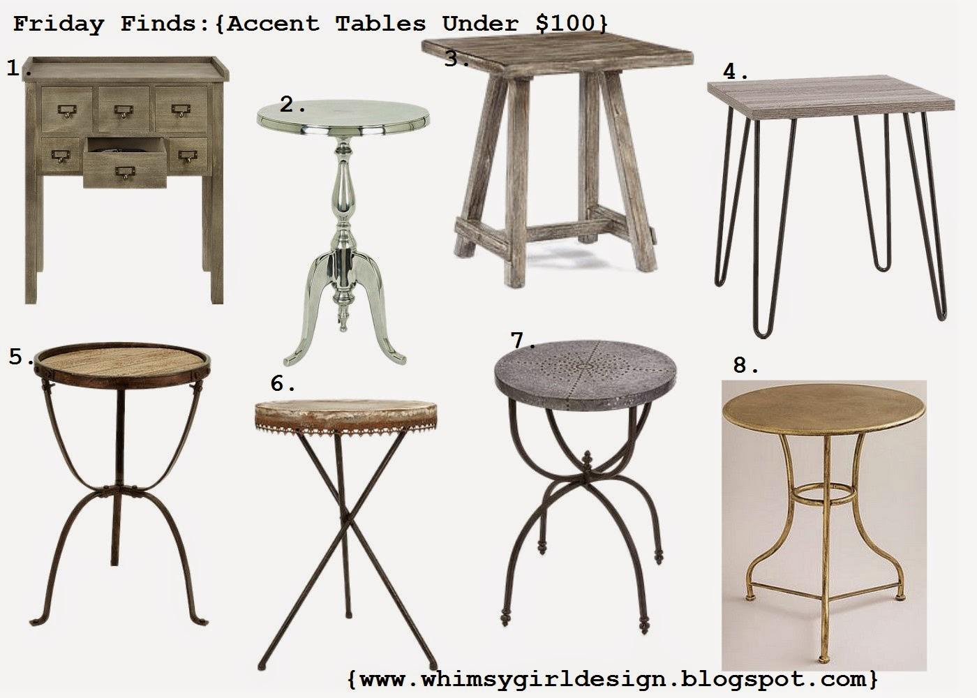 whimsy girl friday finds accent tables under obsidetable snapshot silver pedestal table coffee sets clearance dorm room furniture large square end nate berkus bath rug small