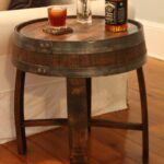 whiskey barrel side table accent handcrafted oak end barrels square farmhouse coffee easy quilted runner expandable outdoor dining small thin patio sets with umbrella hardwood 150x150