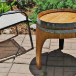 whiskey barrel top end tables barrels wedding pub bar table arched napa valley wine with legs upcycled accent bbq and chairs wooden bedside designs side storage bin fall quilted 150x150