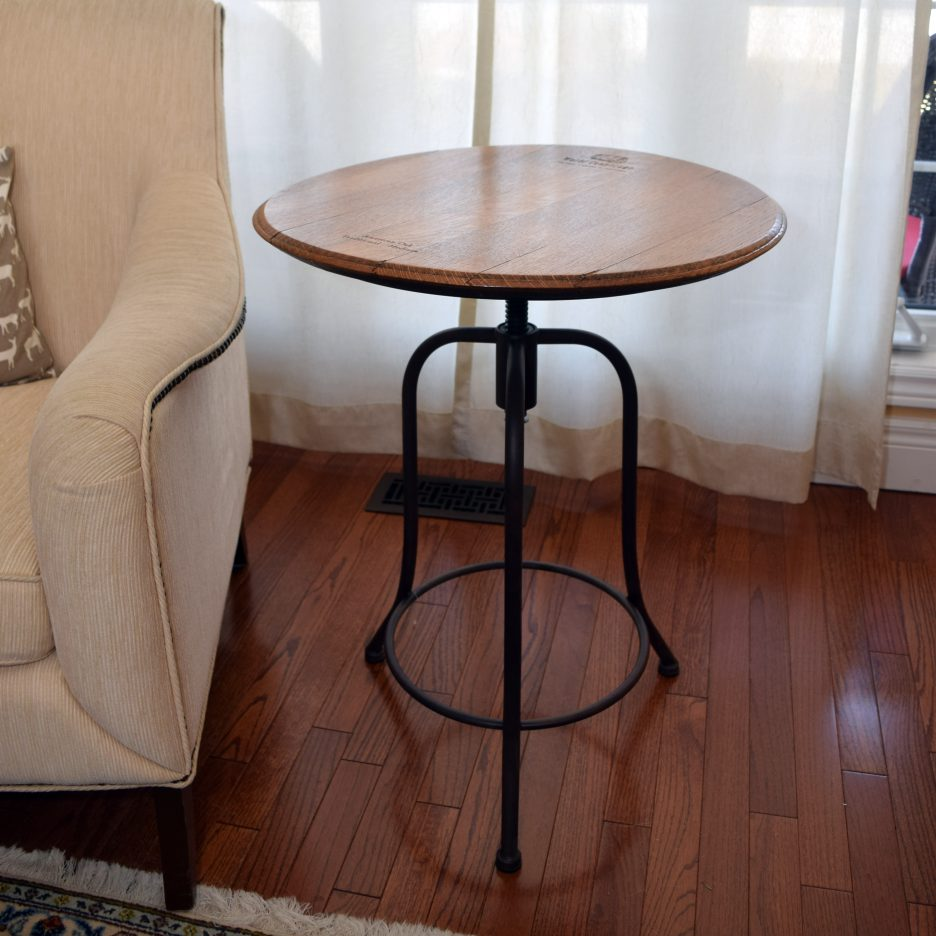 whiskey table skinny side unique accent tables cylinder drum target file cabinet metal garden furniture sets wicker storage baskets narrow white build your own end tiffany lily