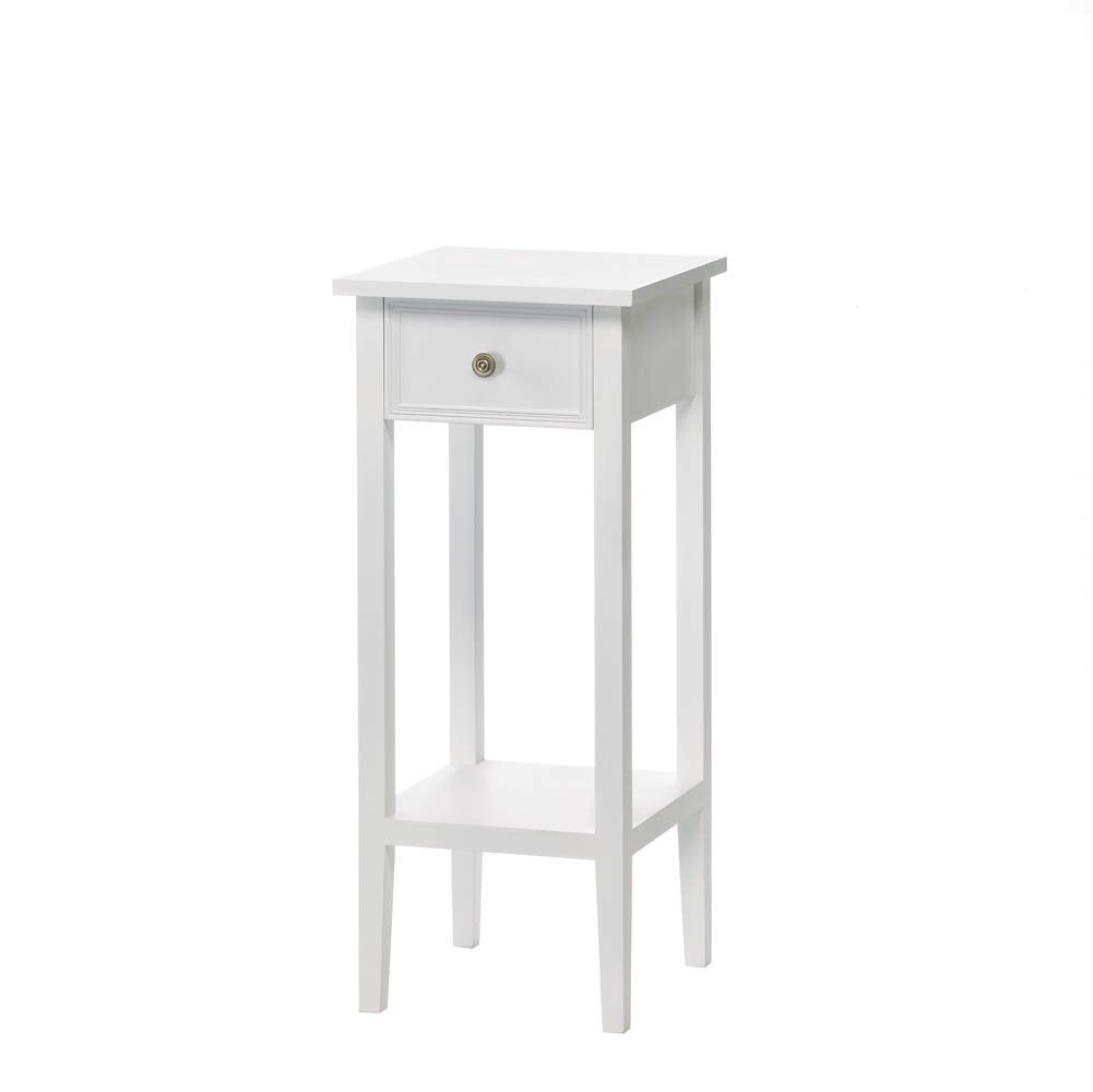 white accent table plant stand garden outdoor corner antique drop leaf side small tables for bedroom metal patio set marble effect coffee cherry and end battery operated reading
