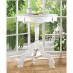 white accent table round rococo style rustic wood vintage french tables living room dividers homegoods console wicker patio and chairs wall file organizer ikea diy legs ideas teak 150x150