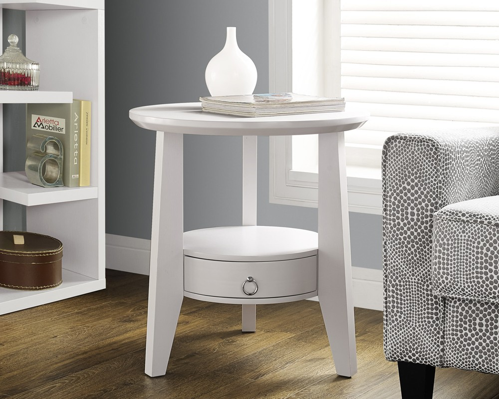 white accent table with drawer curtain bath drawers round small bedroom tables barbie doll furniture slim drop leaf sofa clearance definition hexagon coffee hooper console decor