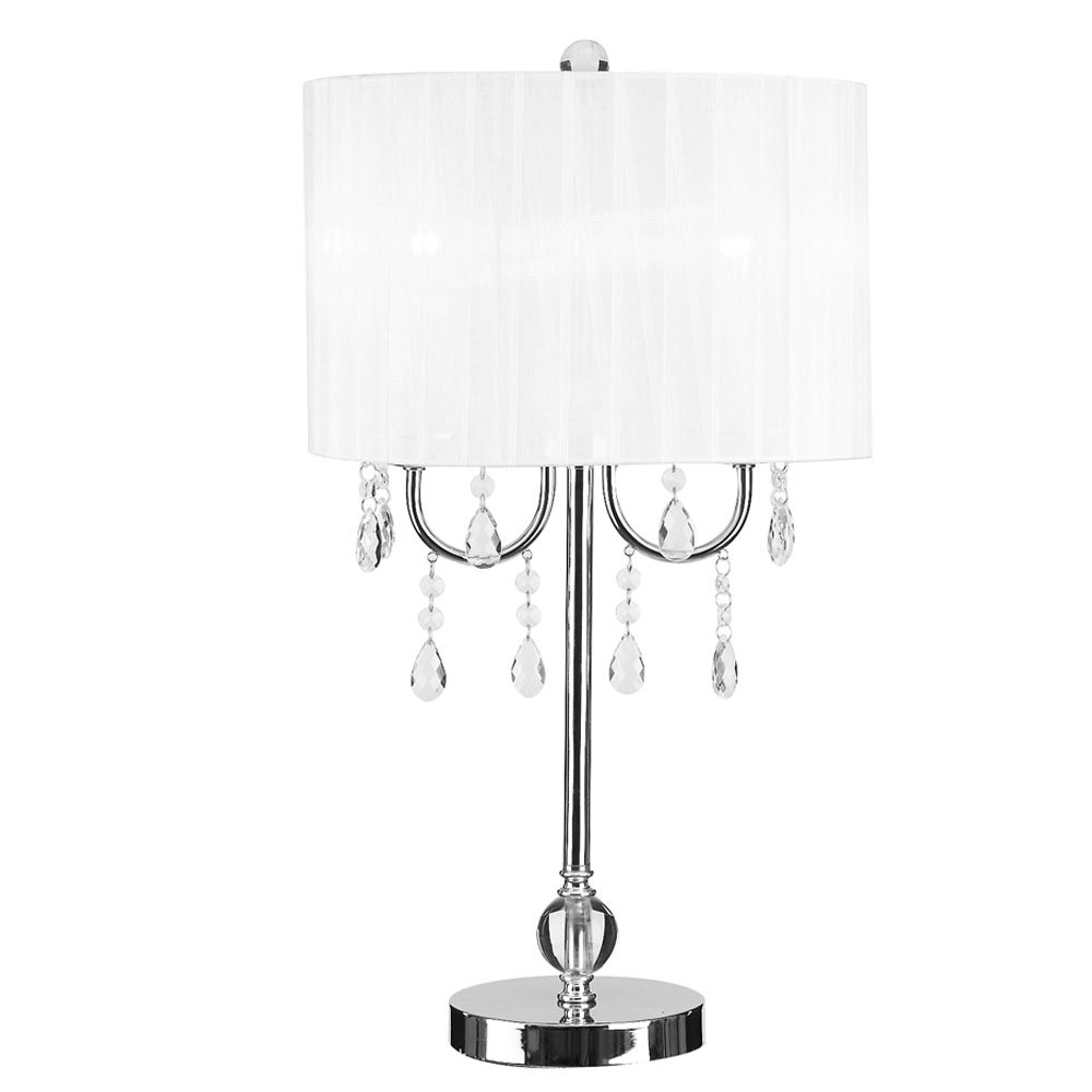 white acrylic side table find black accent get quotations catalina lighting glam chrome chandelier lamp round pedestal west elm coffee desk target windham pottery barn covers mini