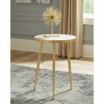 white and gold round accent table free shipping today long console behind couch rustic chairside homesense tables wine storage cabinets tree lamp corner furniture magnussen 150x150
