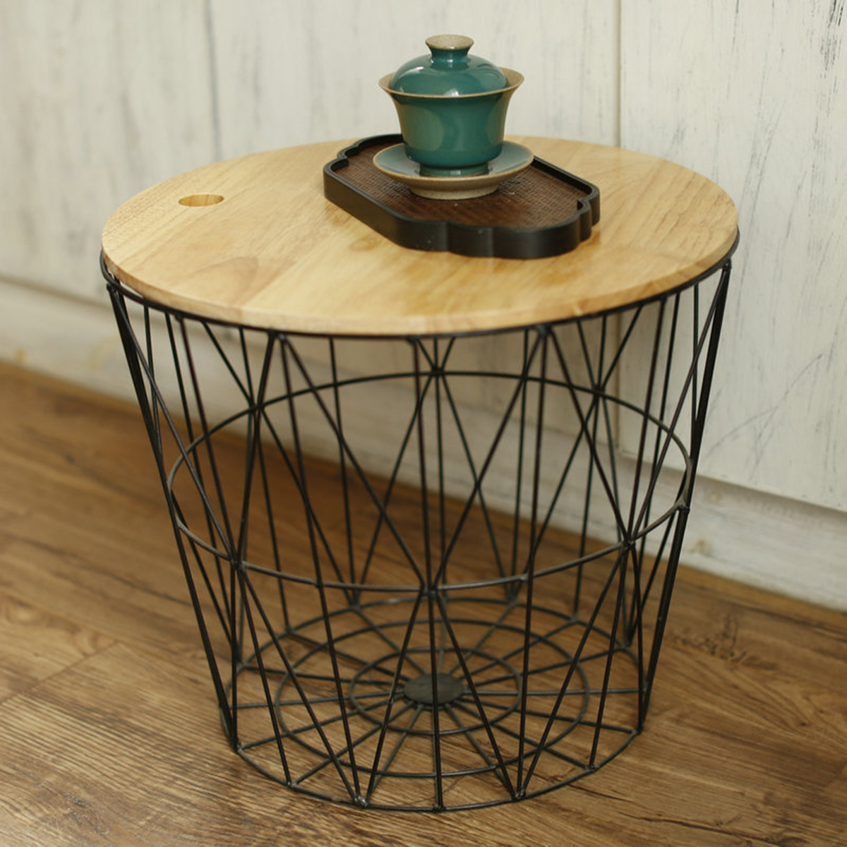 white black metal wire basket wooden top side table storage loft accent with baskets detail nautical outdoor lighting sconces brown copy furniture tall bedside tables drawers