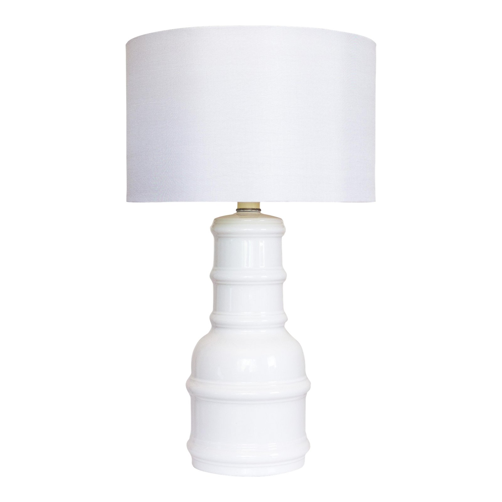 white ceramic accent lamp vintage lighting table chairish beach bathroom decor contemporary winsome timmy black glass end tables for living room small lamps bedroom side console
