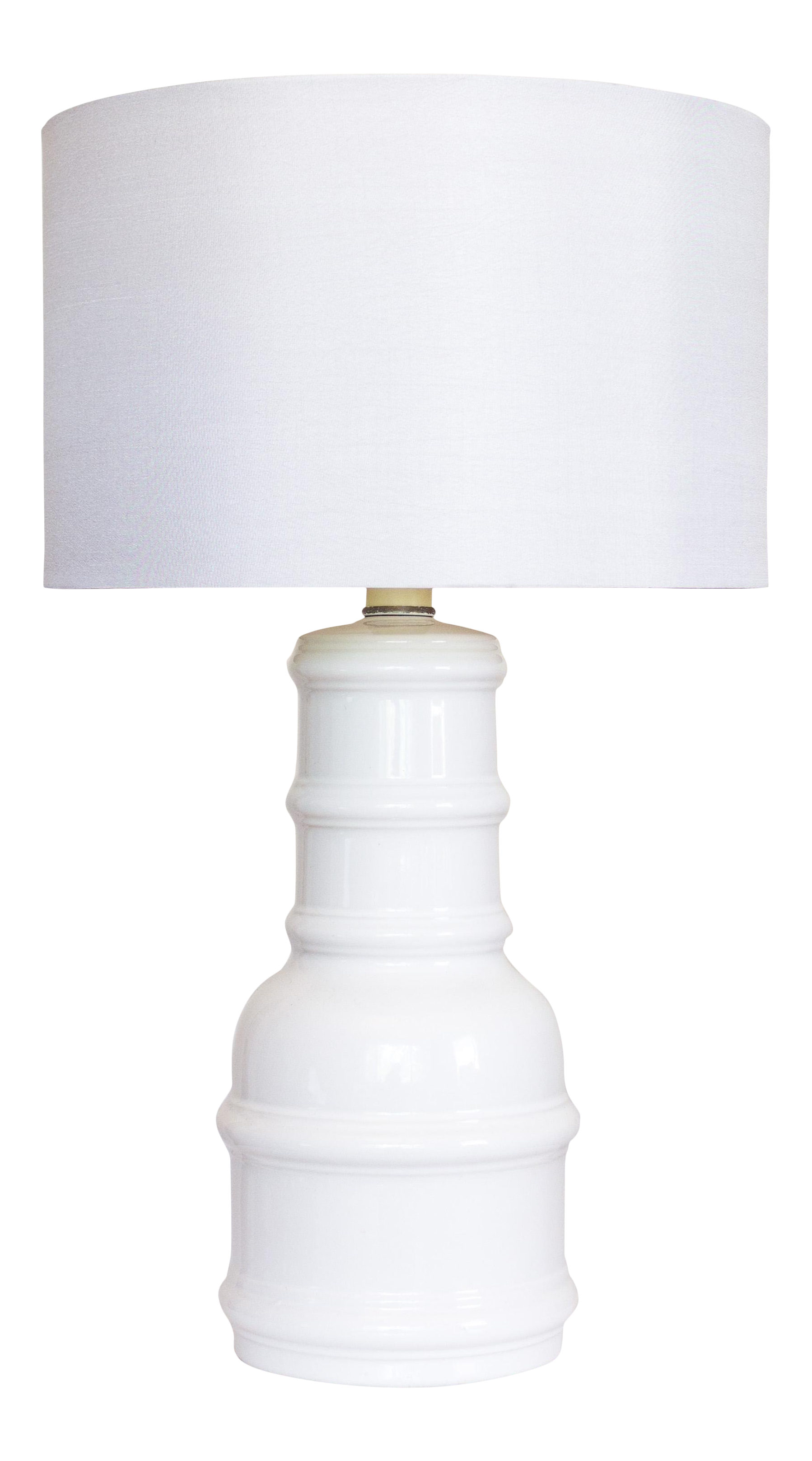 white ceramic accent lamp vintage lighting table chairish small recycled wood furniture tall bedside tables with drawers teal bedroom accessories nautical porch lights rustic dark
