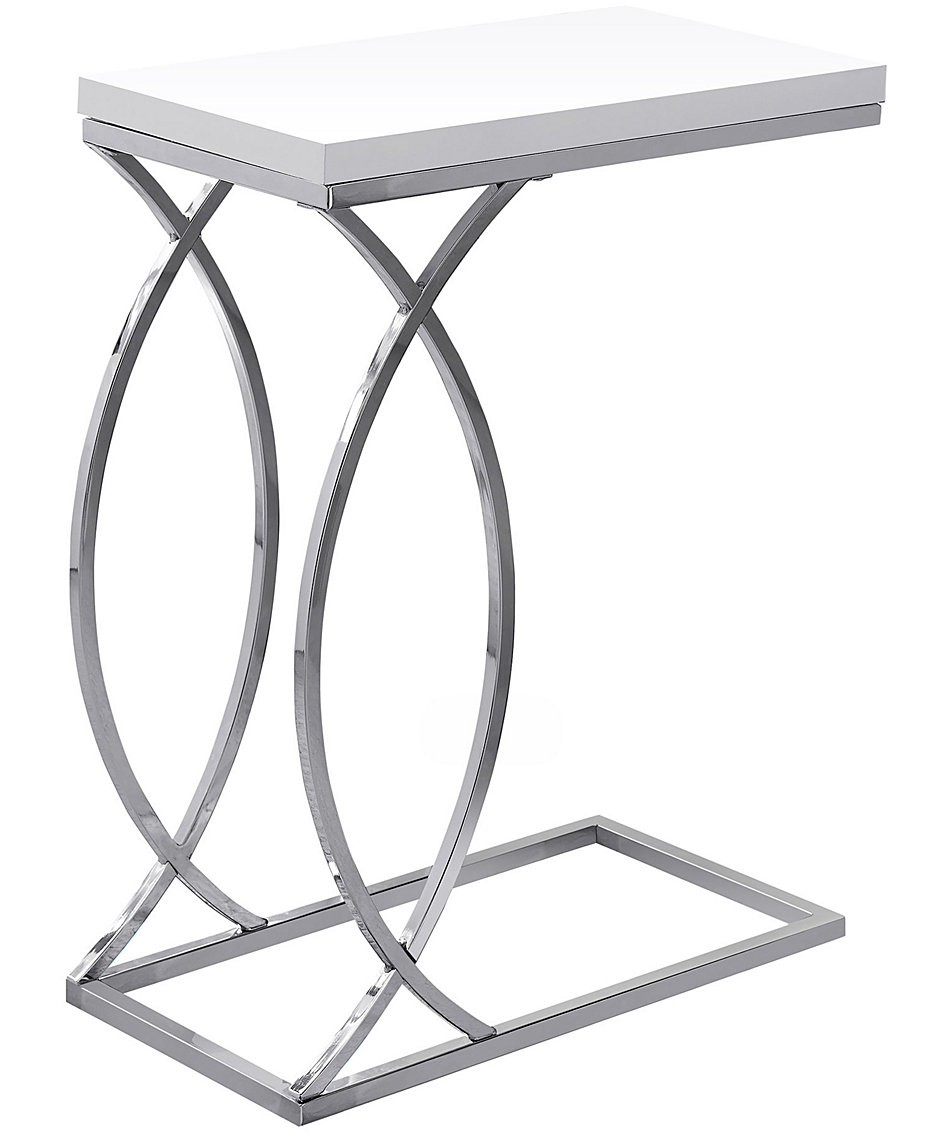 white coffee tables macy fpx monarch mirrored accent table specialties chrome metal edgeside glossy astoria patio modern dining room chairs beachy affordable lamps little black