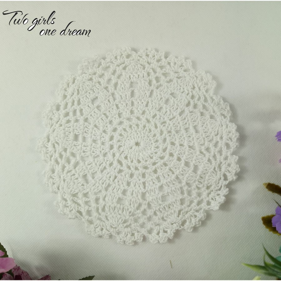 white corner accent table the fantastic favorite colorful small original vintage diy flowers coaster handmade crochet coffee doilies wedding decor cup pad props and end placemat