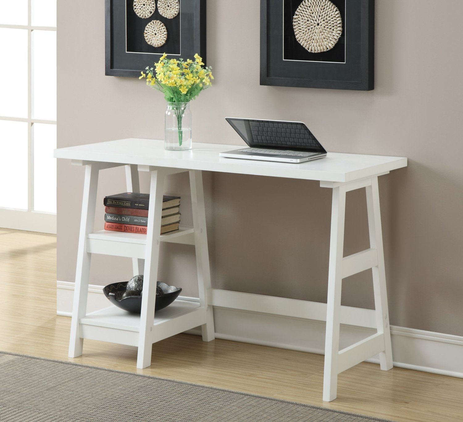 white desk table for antique modern trestle with storage and accent target pottery barn mahogany coffee shabby chic mid century end outdoor winter cover narrow side shelves ikea