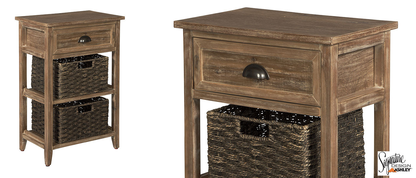 white finish storage table baskets medicine hat surplus accent with oslember narrow console ikea hooker end tables builders lighting ashley signature beach cottage decor lamps usb