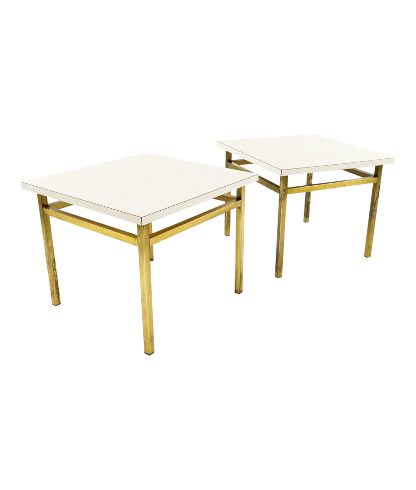 white laminate top brass small accent side end tables pair grill tools painted bedside chests bedroom lamp sets counter height dining room high patio chairs bay furniture narrow