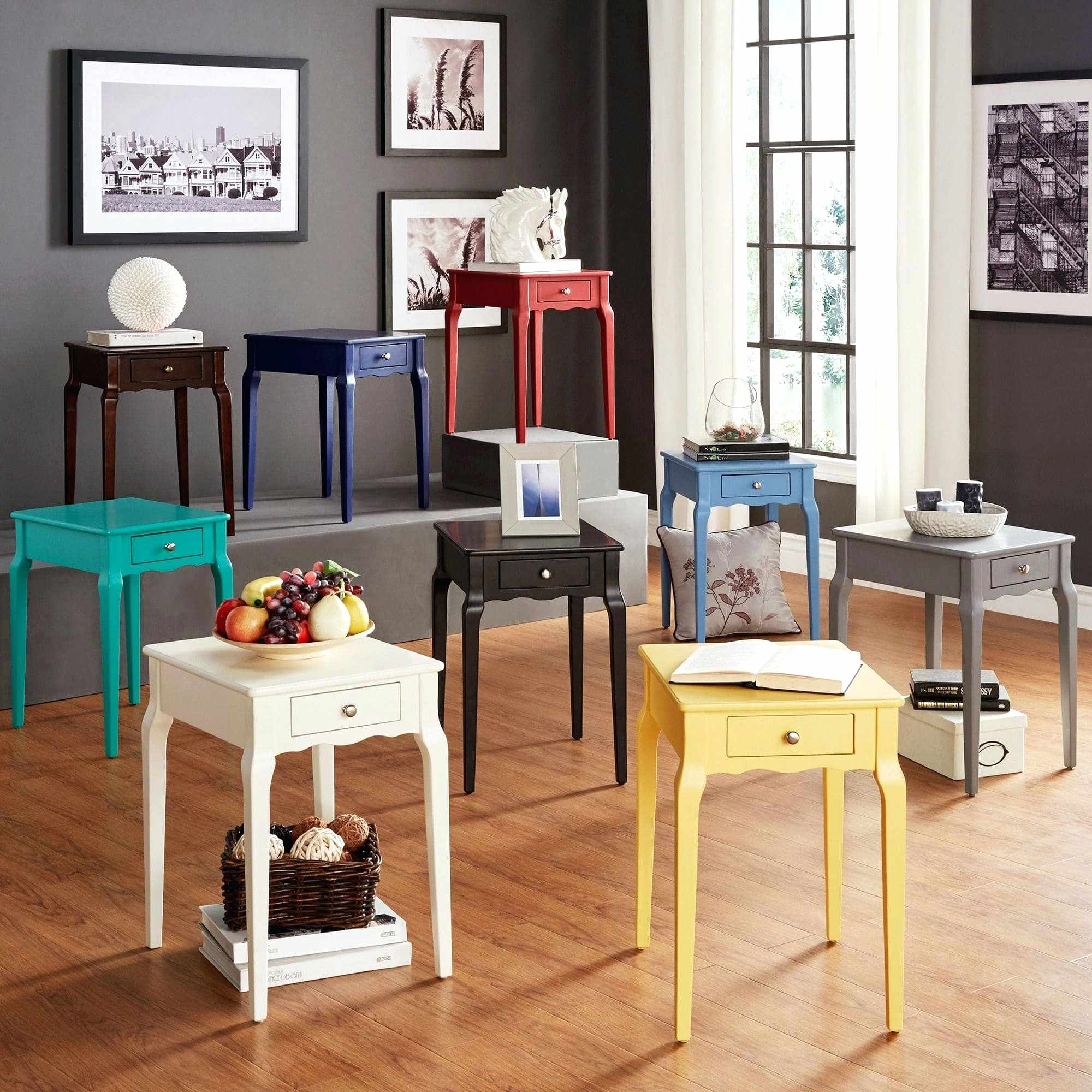 white living room end tables bold accent single drawer side table distressed whitewash acrylic coffee west elm dining chairs small slim bedside nursery half pier off coupon swivel