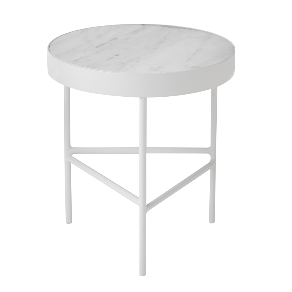 white marble accent table free shipping kontrast danish flmarmorbordhvid modern round wood coffee homemade end tables skinny foyer pub height kitchen slimline bedside bunnings