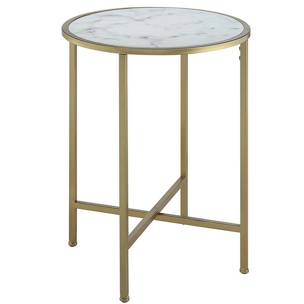 white marble top end table faux topped accent gold metallic base sturdy tabletop minimal unique modern contemporary hallway oval outdoor coffee bedroom chairs and glass console