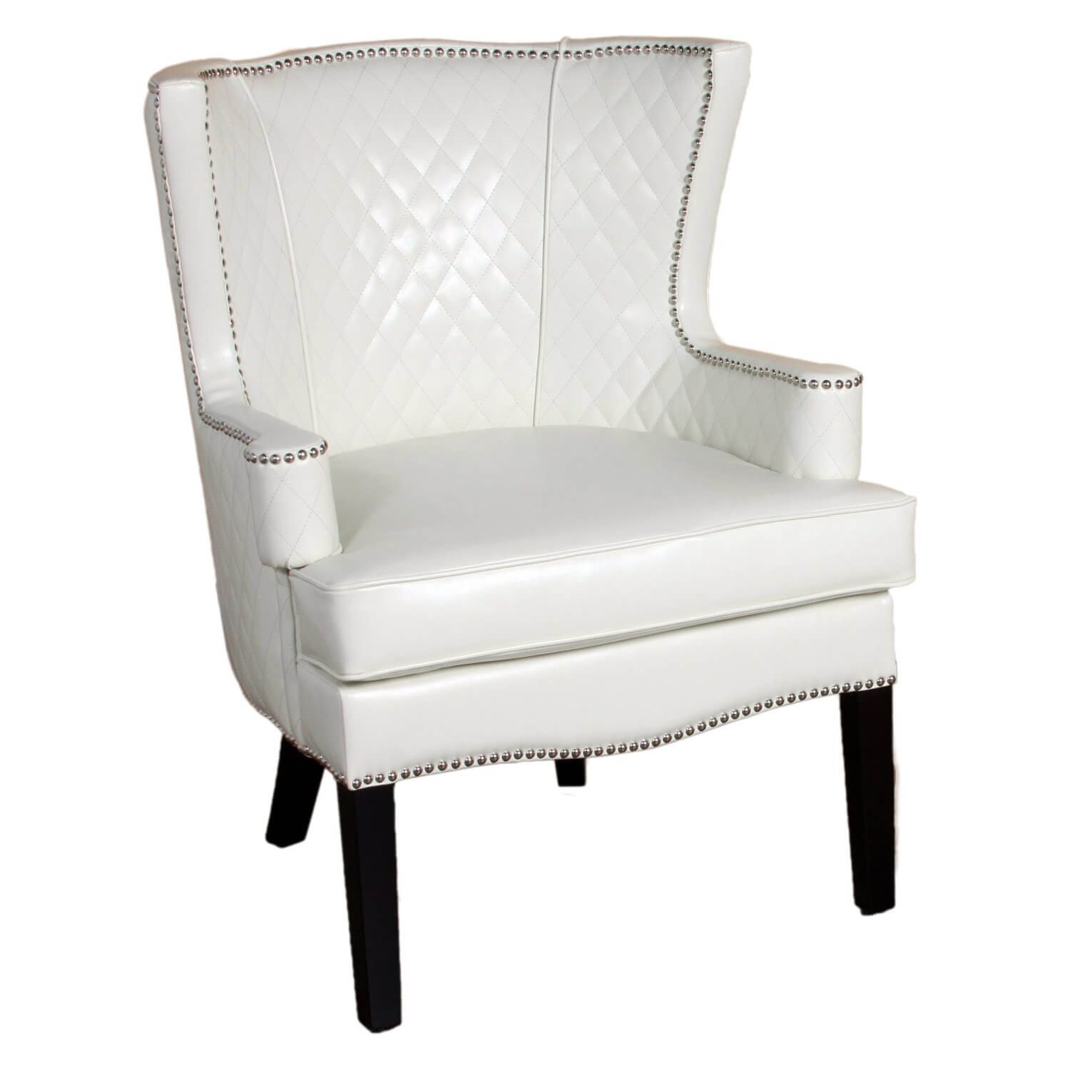 white modern accent chairs for the living room whiteaccentchair dining table with another ivory toned chair this quilted leather seat best features wide seating piece wicker patio