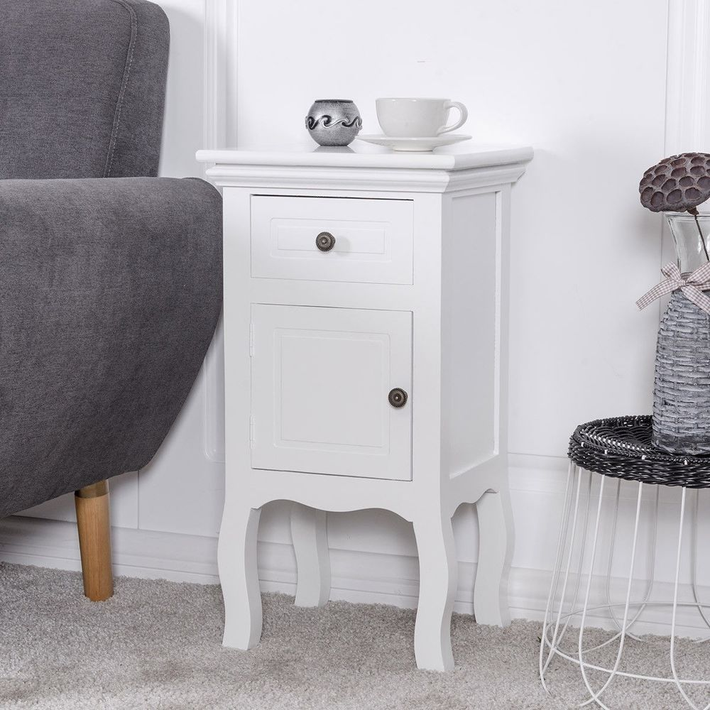 white nightstand for bedroom storage drawer and cabinet wood accent table with new cottage stained glass lamp shades black gold decorations grey round coffee lucite side nesting