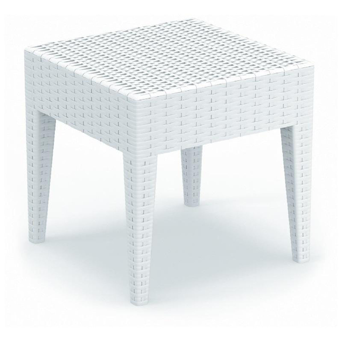 white outdoor side table bizchair compamia cmp main accent our miami wickerlook resin square now lamp shades for lamps small half moon entry glass corner tile patio ashley living