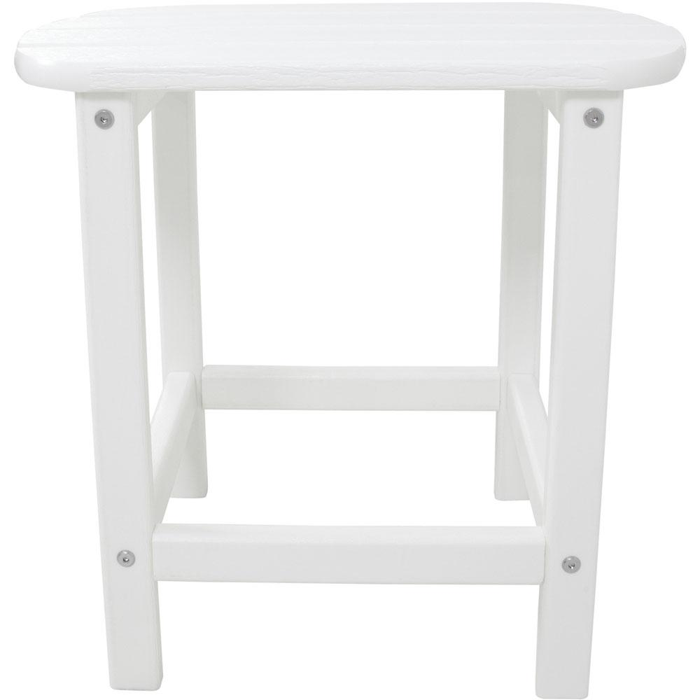 white outdoor side tables patio the hanover drum accent table all weather trendy lamps wall furniture ikea room ideas ashley set concrete carpet joining strip pottery barn mercury