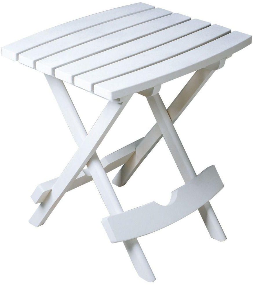 white patio side table foldable easy carry protection lbs adams manufacturing quik fold res metal folding accent the provides perfect for pool holding laptops books sunglasses and