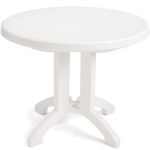 white patio table with umbrella hole round folding resin outdoor grosfillex vega side small end len graphy antique two tier weatherproof garden furniture extra wide console mid 150x150