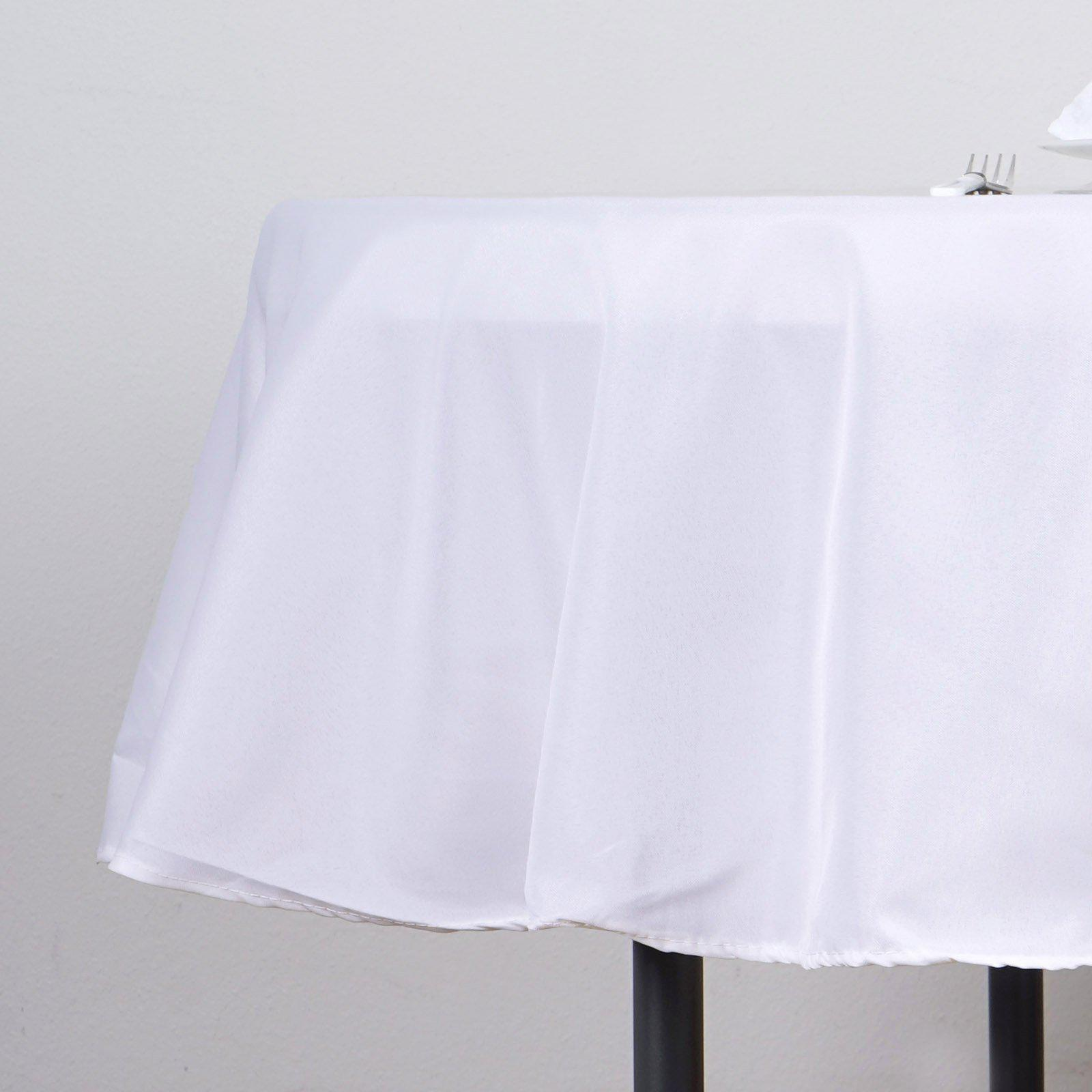 white polyester round tablecloth tablecloths factory tab wht poly accent table with bedroom pottery barn storage coffee jcpenney end tables garden furniture inch tall console