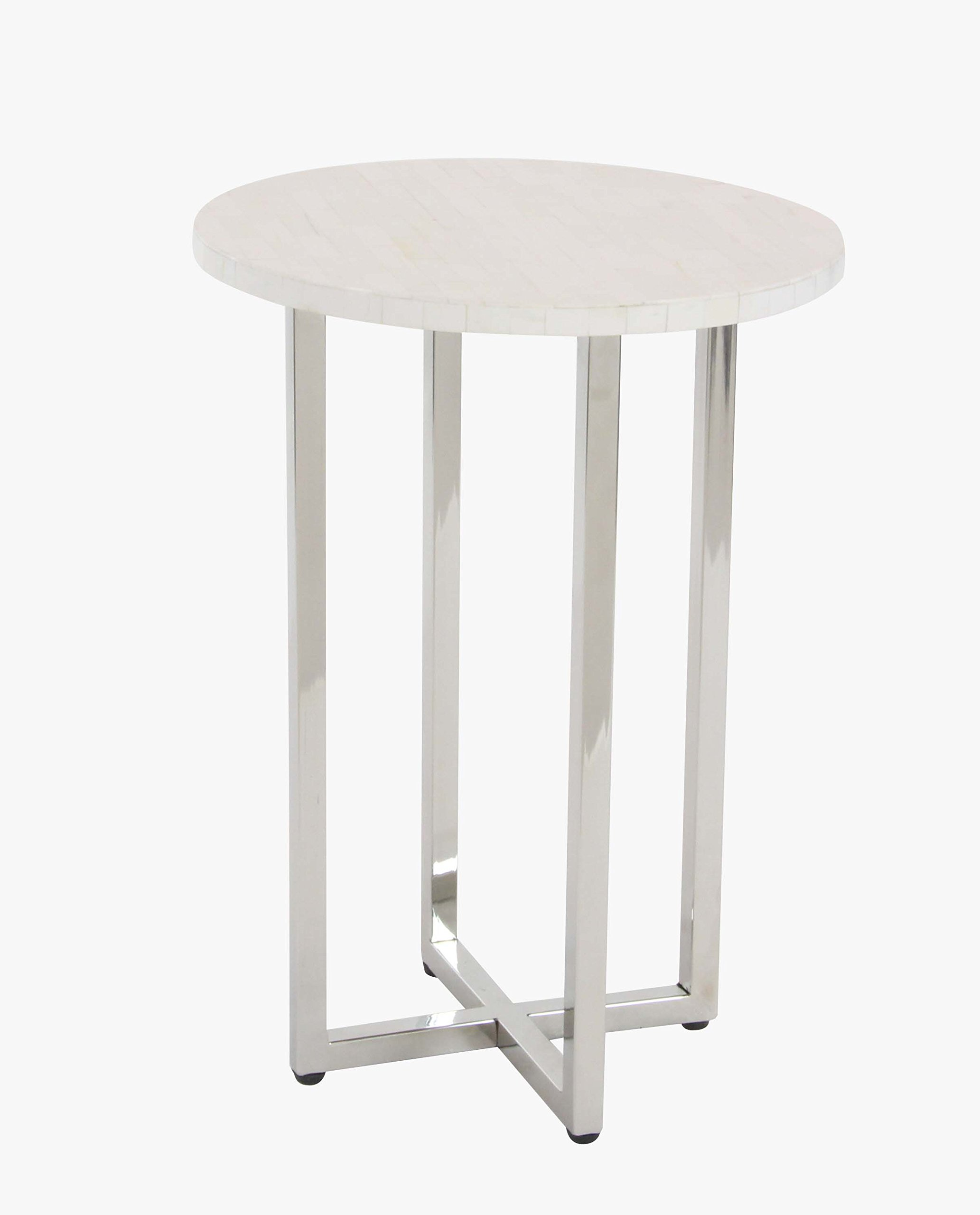 white round accent table find get quotations deco silver laminate door trim outdoor wicker coffee with glass top affordable nightstands entry furniture pieces pink metal magnussen