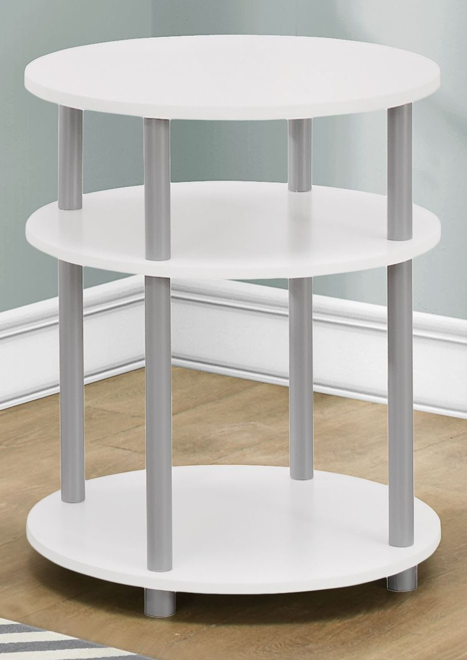 white round accent table small monarch eryn modern metal and glass coffee nautical kitchen lighting fixtures grey side quilted tablecloth patterns ashley furniture sofa sets diy