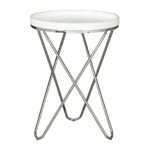 white round end table accent tables small living room leather full size zinc monarch specialities coffee outdoor wicker with glass top quilted runner ideas family entry furniture 150x150