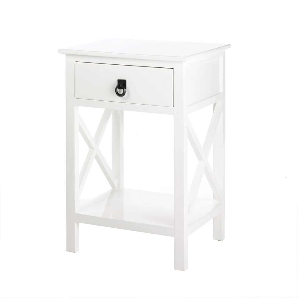 white side tables bedroom sofa living room made with accent table small couch drawers rattan and chairs acrylic lamp beer cooler coffee modern industrial end bunnings outdoor