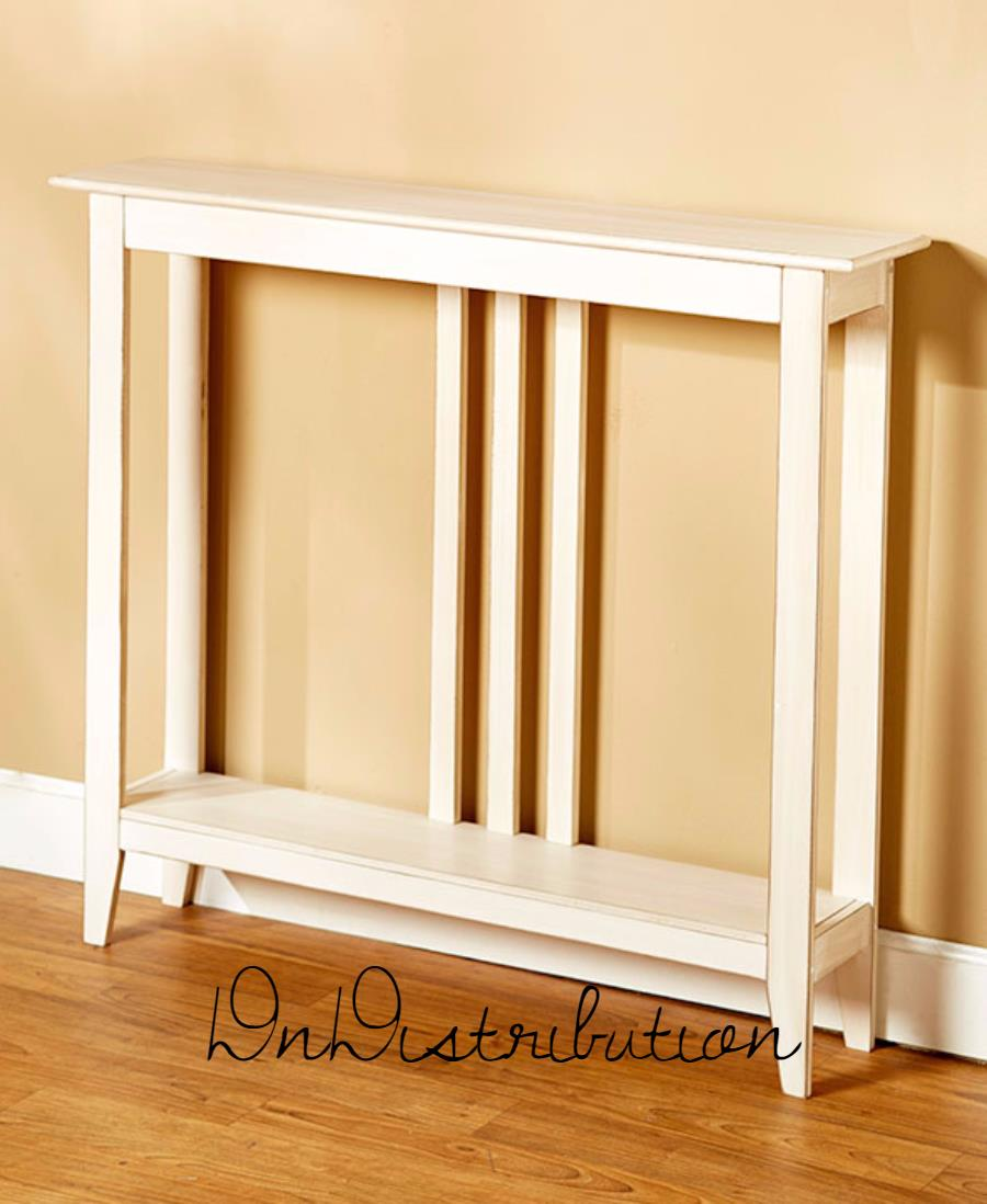 Narrow White Accent Table Grottepastenaecollepardo