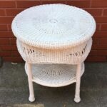white wicker plastic tier round accent table indoor outdoor alexa home automation small side end modern coffee ideas furniture websites glass top with storage argos corner shabby 150x150