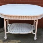 white wicker wood tier accent table vintage patio umbrella foot garden tables bunnings blue and lamps west elm tripod office desk ideas trestle modern coffee arc lamp gateleg mid 150x150