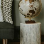 whitewashed stump end table tables woods timor wood trunk accent outside cover trestle base sofa bench ikea small white outdoor side little glass safavieh storage antique coffee 150x150